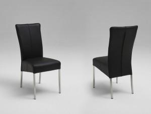 Esszimmer Stühle Leder schwarz