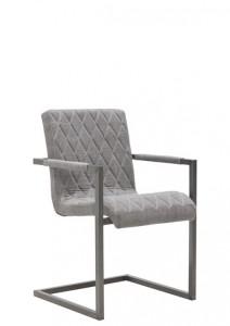Freischwinger Stühle grau Stoff