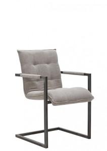 Freischwinger Stühle mit Armlehne Stoffbezug