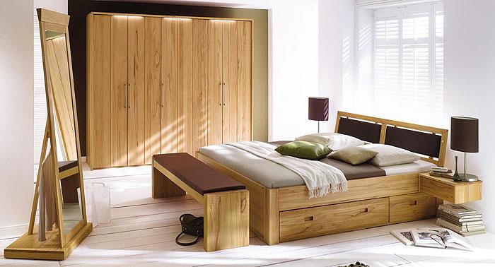 Schlafzimmer Palermo Kernbuiche massiv Holz geölt - Gomab