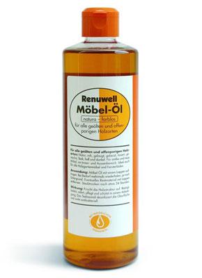 Renuwell Möbelpflege Öl für massivholzmöbel mit geölter Oberfläche