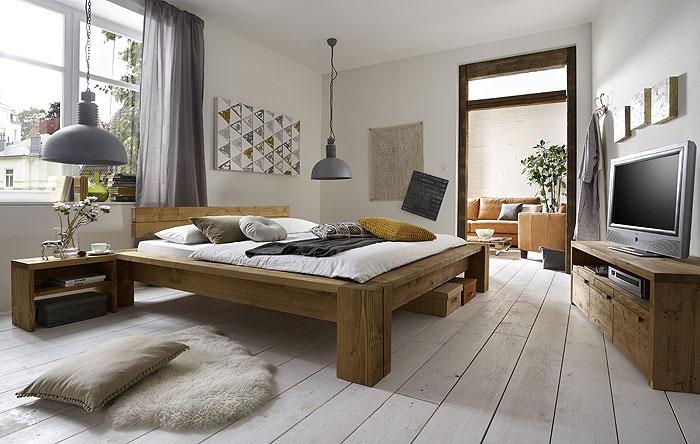Schlafzimmermöbel Tirol Kiefer Fichte massiv Holz gebeizt gewachst SC-Koks