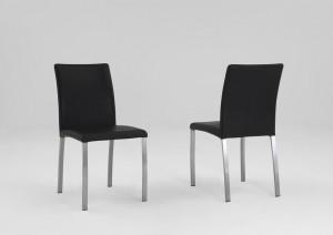 Stühle Leder schwarz