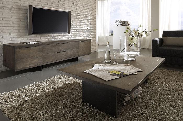 Wohnzimmer Möbel Eiche massiv Räucheröl Finish - Bodahl Möbler