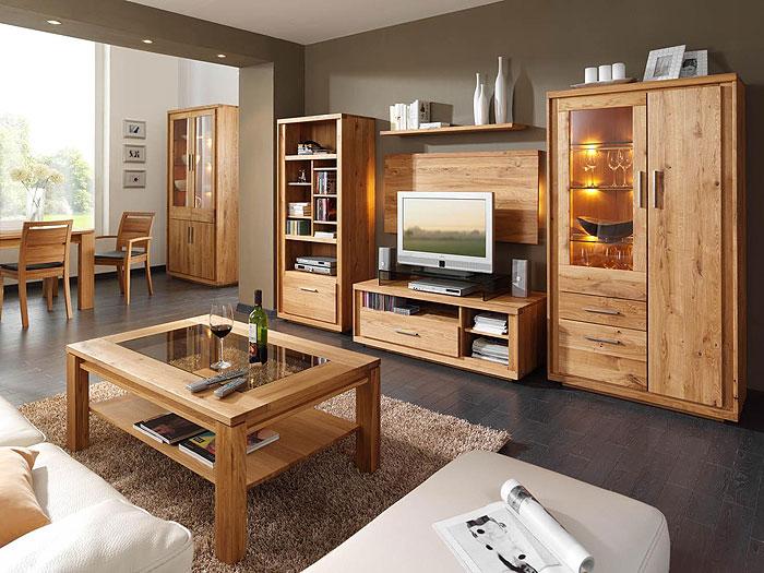Wohnzimmer Set Neria Asteiche massiv Holz geölt Wimmer Wohnkollektion