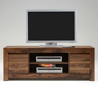 TV_Lowboard Nussbaum massiv Holz Oberfläche geölt