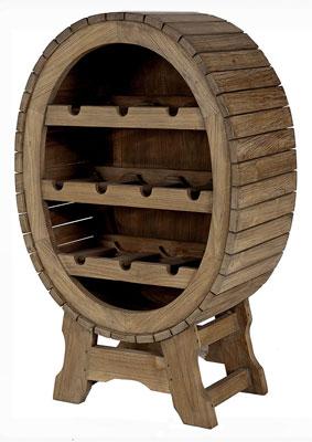Flaschenregal Teak massiv Holz unbehandelt landhausstil