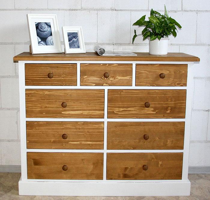 Anrichte Fichte massiv Holz weiß antik shabby