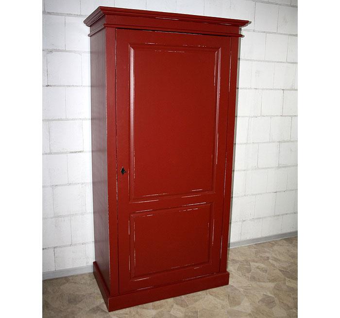 Bunte Möbel Dielenschrank Fichte massiv Holz rot shabby