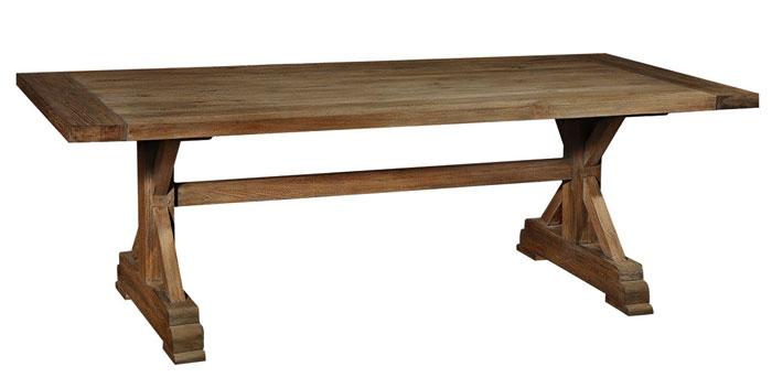 Esstisch Teak Holz massiv Oberfläche unbehandelt