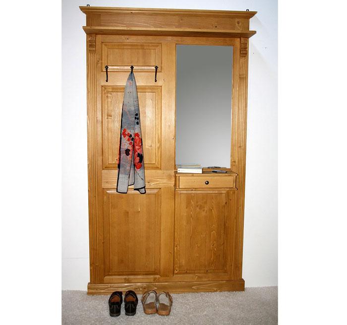Garderobe Fichte massiv Holz antik gewachst