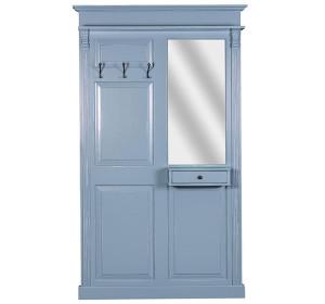 Garderobe Fichte massiv taubenblau lackiert
