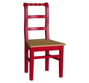 Stuhl Fichte massiv bunte Möbel rot antik gewachst