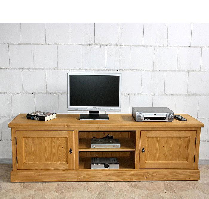 TV-Lowboard Fichte massiv Holz antik gewachst