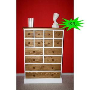 Schubladenkommode Vintage weiß Holz Angebot