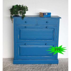 Schuhkommode Massivholz blau Shabby Chic Angebot