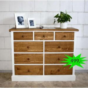 Wäschekommode Massivholz massiv weiß antik shabby chic