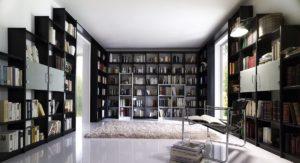 Bibliothek Kiefer schwarz lackiert