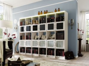 Bücherregal Kiefer weiß lackiert