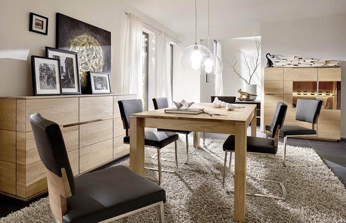 Speisezimmer Eiche massiv 9-teilig Acerro Wohnkollektion