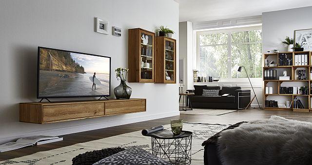 wohnzimmer eiche geoelt möbel massivholz