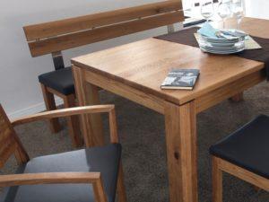 massivholz tisch aus rustialer asteiche