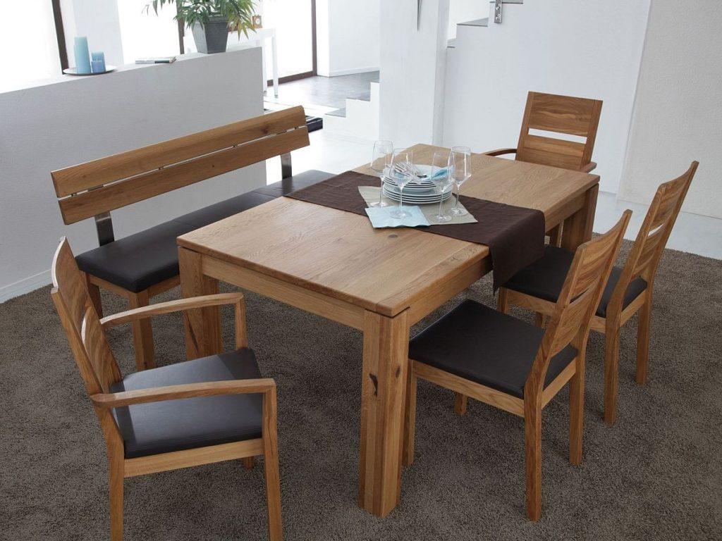 massivholztisch aus rustikaler austeiche