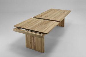massivholz wangentisch ausziehbar eiche bianco