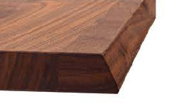 massivholz tischplatte mit kante schraeg