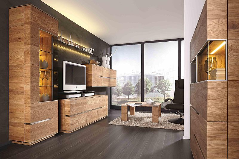 acerro wohnwand aus rustikaler asteiche massiv natuerlich geoelt