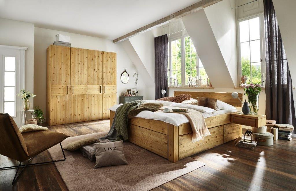 massivholz schubladenbett easy sleep kiefer gelaugt geoelt