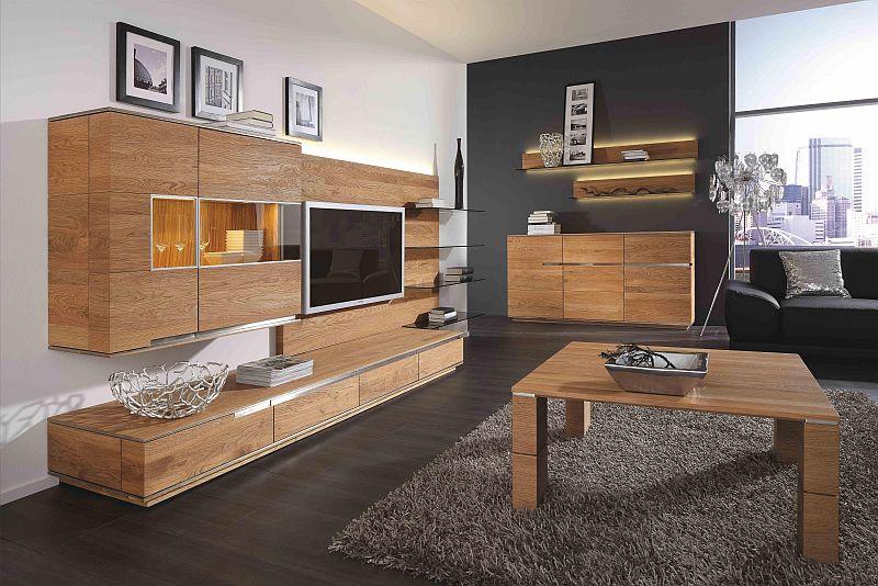wohnzimmermoebel massiv aus rustikaler asteiche gefertigt