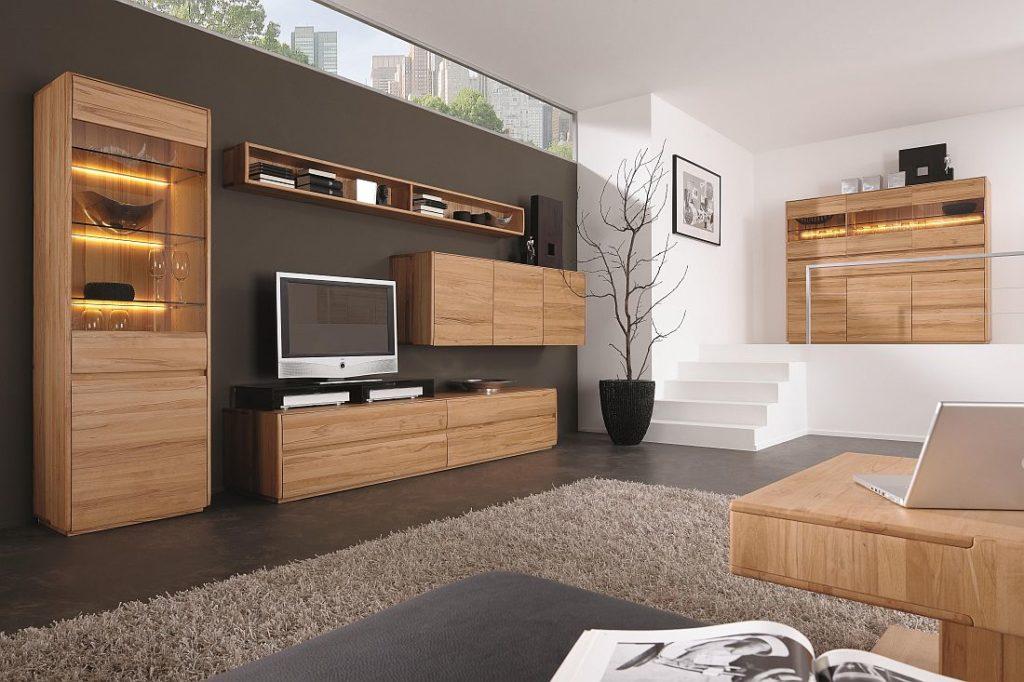 massivholz wohnzimmermoebel in naterliche geoelter kernbuche