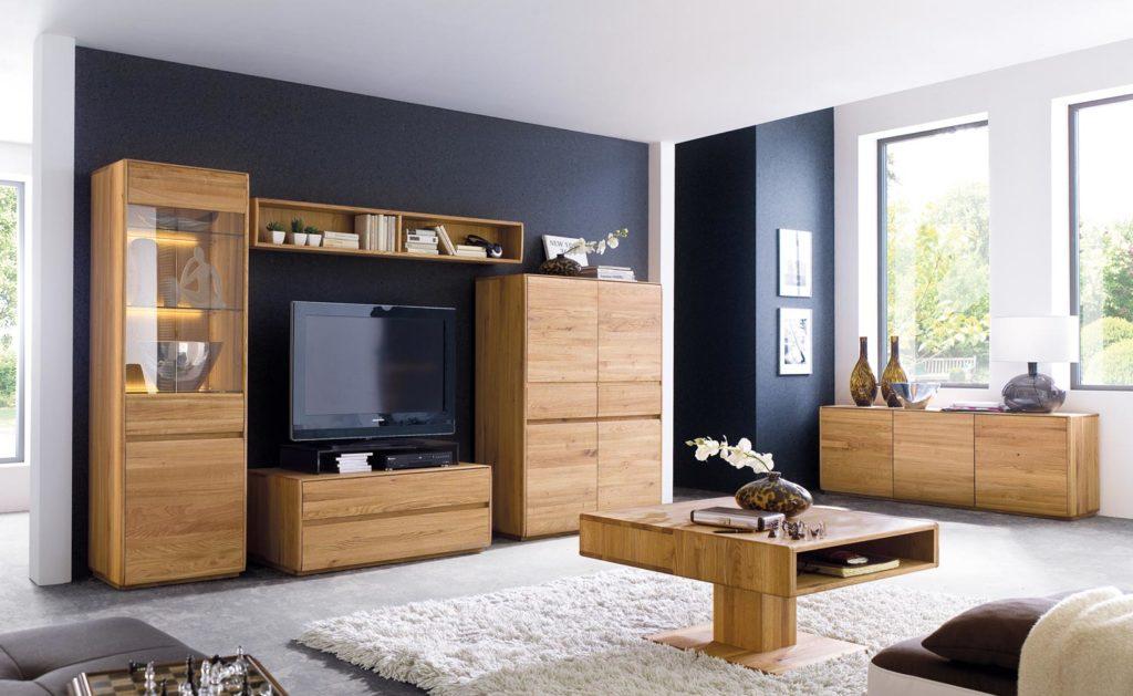 massivholz wohnwand in asteiche geoelt von wimmer wohnkollektionen