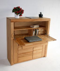 Pc-Tisch, Kernbuche, massiv, Natur-Holz