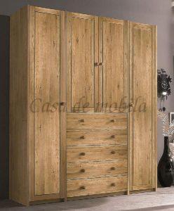 Systemschrank, Wildeiche, Massivholz, Naturholz