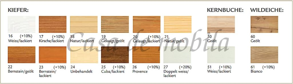 Contra, Kleiderschrank, Massivholz, Varianten
