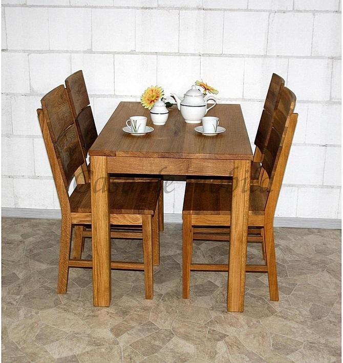echtholz massivholz esstisch kleiner küchentisch eiche asteiche wildeiche natur geölt