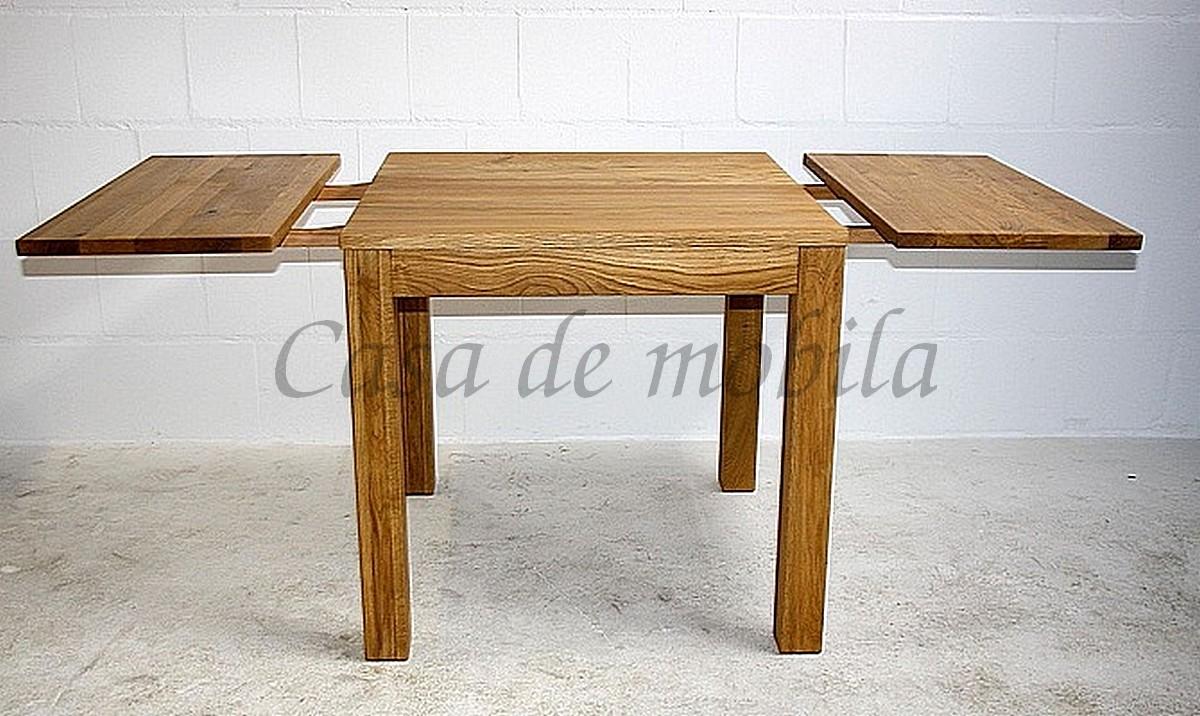 massivholz echtholz naturholz kuechentisch esstisch esszimmertisch erweiterbar anteckplatte eiche asteiche wildeiche natur geölt