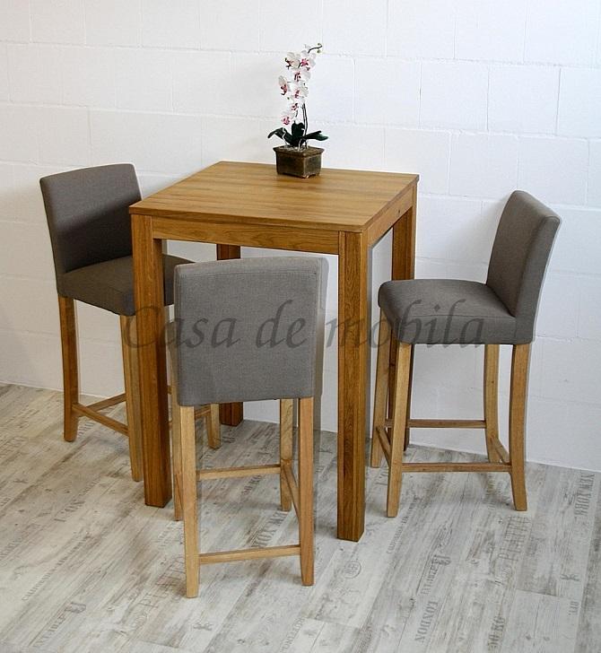 massivholz essgruppe echtholz bistrotisch hochtisch holztisch küchentisch stehtisch mit 3 bistrostühlen barhockern