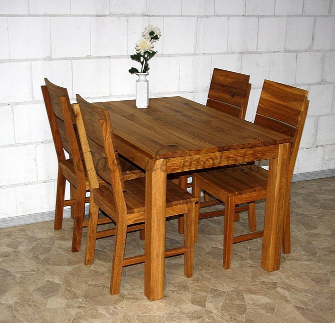 massivholz echtholz naturholz eich asteiche wildeiche küchentisch esstisch natur geölt eich massiv